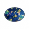 Cabouchon Glass 25/18mm Oval Speckled Blue